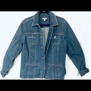 Croft&Barrow women's XL stretch jean jacket